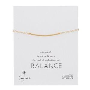 Dogeared Balance Large Square Bar Bracelet